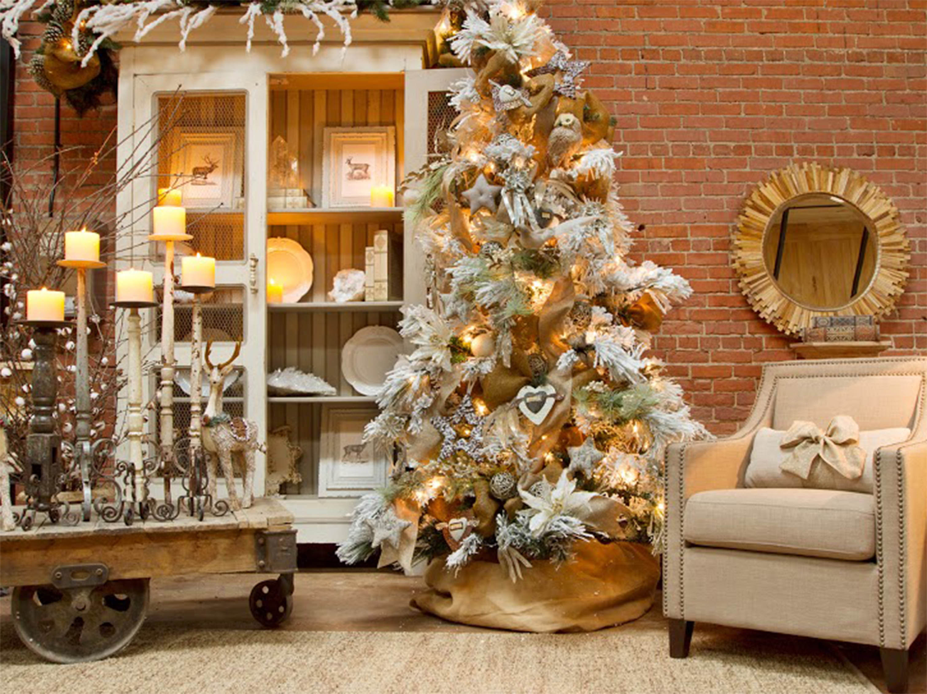 Superior Home Decorations Ideas In White And Gold For Christmas