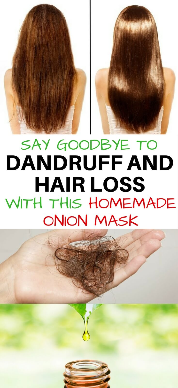 SAY GOODBYE TO HAIR LOSS AND DANDRUFF HOMEMADE HAIR OIL