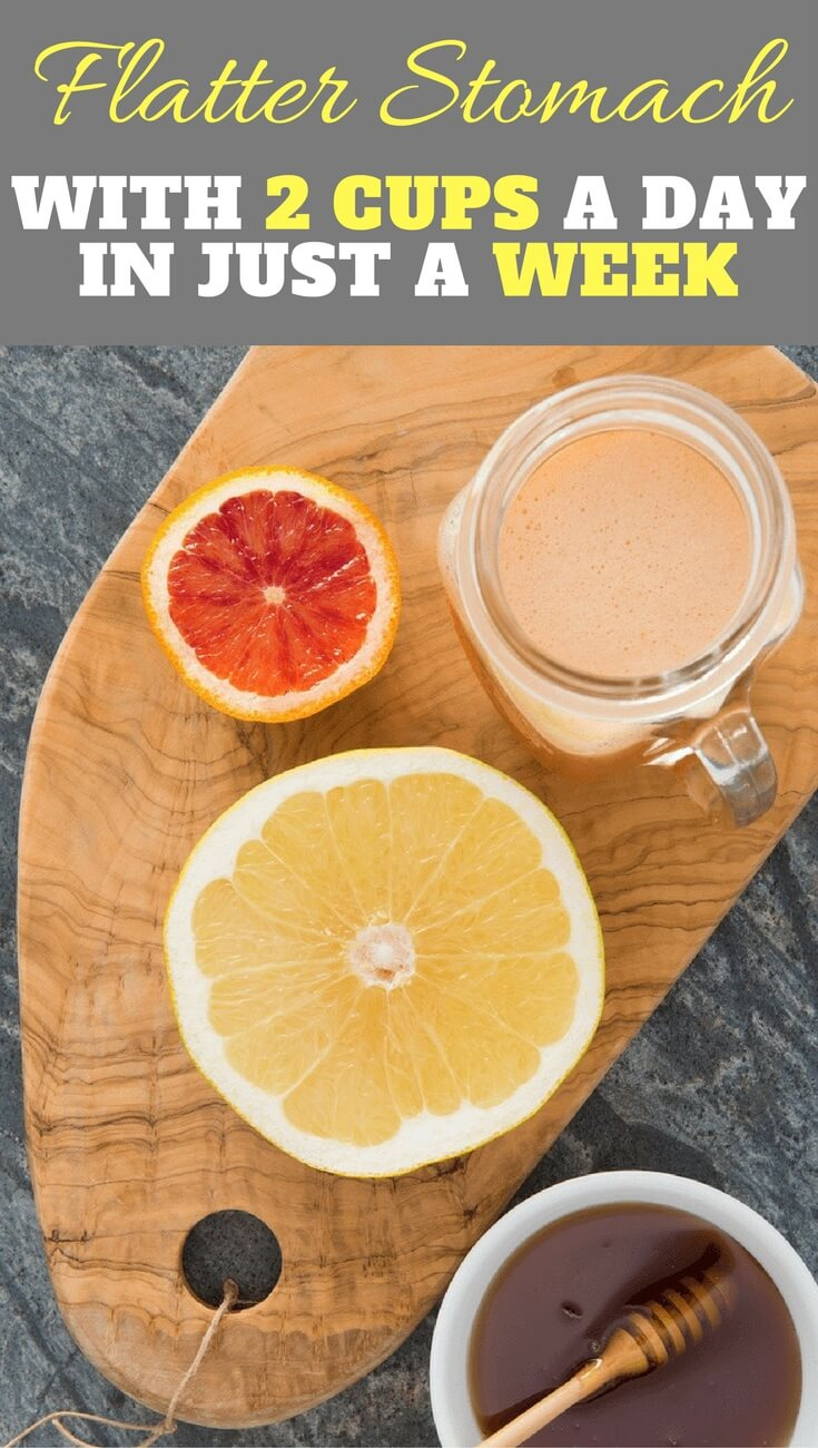 Easily lose weight with this homemade drink with only 2 cups a day in 1 week. Mix grapefruit juice with, honey and apple cider vinegar.