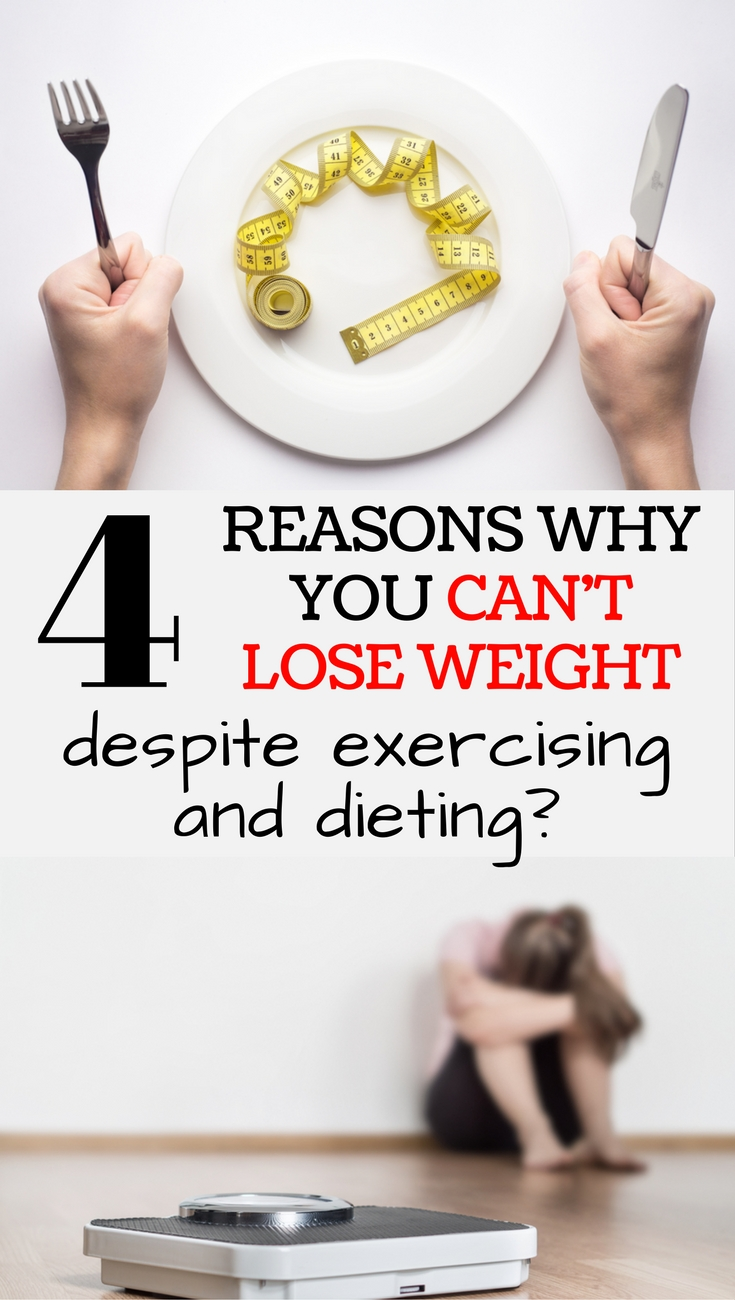 Why are some people unable to lose weight despite exercising and dieting?